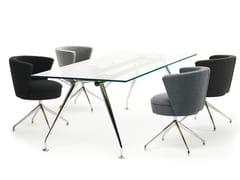 Tavolo da riunione rettangolare in vetro.SUN | Tavolo da riunione rettangolare - SPIEGELS