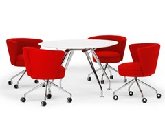 Tavolo da riunione rotondo in legno.SUN | Tavolo da riunione rotondo - SPIEGELS