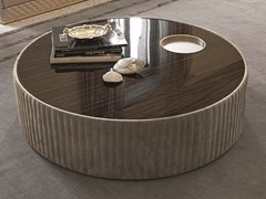 Tavolino rotondo in legno SUN | Tavolino in legno - Loveluxe Vanity