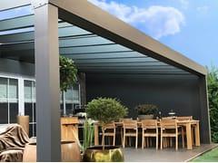 Gardendreams, SUPERIOR Pergolato in alluminio con copertura in vetro
