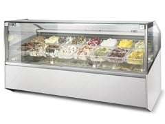 Vetrina refrigerata da bancone per gelatiSUPERSHOW | Vetrina refrigerata per gelati - ISA