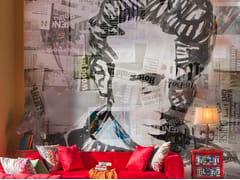 Carta da parati pop art in fibra di vetro con scritteSUPERSTAR GRAFFITI - TECNOGRAFICA