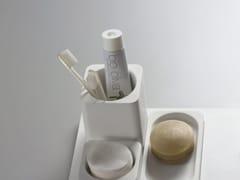 Portaspazzolino da appoggio in Cristalplant®SURF | Portaspazzolino - AGAPE