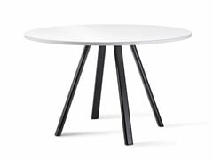 Tavolo da giardino rotondo in Compactop®SURFY OUTDOOR 2027 | Tavolo rotondo - GABER