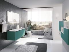 Mobile lavabo sospeso con specchioSWING 09 - BMT