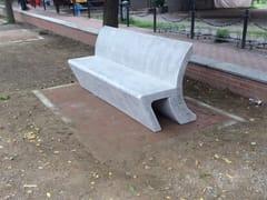 Panchina in pietra ricostruita con schienale SWING | Panchina con schienale -