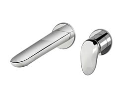 Miscelatore per lavabo a muro monocomando in ottone SYNERGY OPEN 93 - 9318108 - Synergy Open 93
