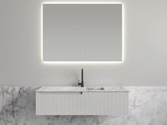 Mobile lavabo in poliuretano con top in marmo di Carrara SYNERGY | Mobile lavabo in poliuretano - FIORA