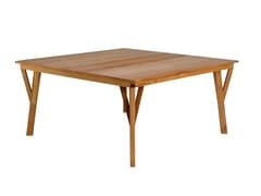 Tavolo quadrato in teakSYNTHESIS   Tavolo quadrato - UNOPIÙ