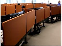 Pannello divisorio da scrivania fonoassorbente in fibra di poliestere T-FRAME | Pannello divisorio da scrivania - TAILOR MADE