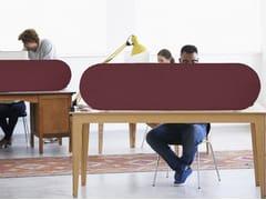 Pannello divisorio da scrivania fonoassorbente in fibra di poliestere T-LIGHT | Pannello divisorio da scrivania - TAILOR MADE