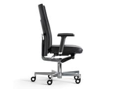 Sedia ufficio girevole a 5 razze con schienale altoT-SIT WORK | Sedia ufficio con schienale alto - METALÚRGICA DO LEVIRA