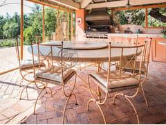 Tavolo rotondo in pietra con Lazy SusanTavolo in pietra 5 - GARDEN HOUSE LAZZERINI