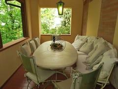 Tavolo da giardino ovale in pietraTavolo in pietra 8 - GARDEN HOUSE LAZZERINI