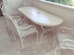 Tavolo da giardino ovale in pietraTavolo in pietra 9 - GARDEN HOUSE LAZZERINI