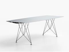 Tavolo rettangolare in alluminio e acciaioTABLE B 90 - INOX - BD BARCELONA DESIGN
