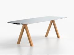 Tavolo rettangolare in alluminio estrusoTABLE B 90 - WOOD - BD BARCELONA DESIGN