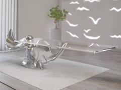 Tavolo rettangolare in alluminio e vetroLE ALI | Tavolo - BOFFETTO