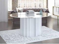 Tavolo rotondo in cristallo e Solid SurfaceMY WAVE | Tavolo - BOFFETTO