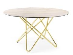 Tavolo rotondo in ceramica effetto marmoSTELLAR   Tavolo - CALLIGARIS