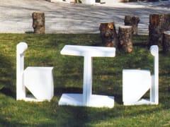 Tavolo per spazi pubblici rettangolare in cementoLOOK | Tavolo per spazi pubblici - CANTIERE TRI PLOK