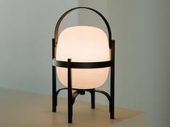 Lampada da tavolo a LED in alluminio e vetro senza filiCESTITA ALUBAT | Lampada da tavolo - SANTA & COLE NEOSERIES