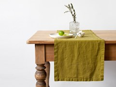 Runner in lino MOSS GREEN | Runner - BALTIC FLAX, UAB