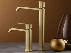 Miscelatore per lavabo da piano monocomandoTAORMINA FROSTED CHAMPAGNE - RUBINETTERIE RITMONIO