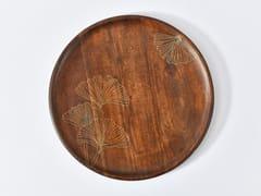 Piatto piano rotondo in legnoTARKASHI BILOBA | Piatto - ORVI DESIGN STUDIO
