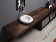 Antonio Lupi Design, TARSIA Piano lavabo in Rovere Thermo