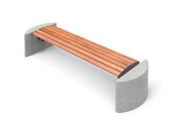 Panchina in legno senza schienale TAURUS | Panchina - Taurus