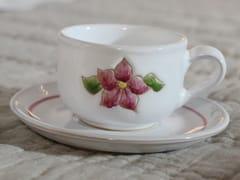 Tazza da tè in ceramica con piattinoPRIMAVERA ROSA | Tazza da tè - GRUPPO ROMANI