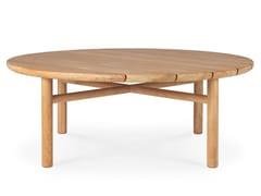 Tavolino basso rotondo in teakTEAK QUATRO OUTDOOR | Tavolino basso - ETHNICRAFT