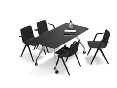 Tavolo da riunione rettangolare con ruoteTEAM | Tavolo da riunione - BRUNNER
