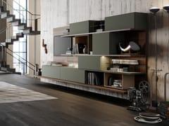 Parete attrezzata componibile in legno con illuminazione integrataTECA06 - KICO