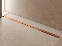 Scarico per doccia in acciaio inox con finitura in PVDTECEdrainprofile PVD - TECE ITALIA
