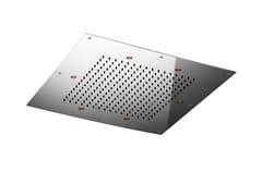 Soffione doccia a LED a pioggia quadrato in acciaio inox TECHNO | Soffione doccia a LED - Techno