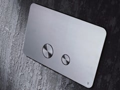 Radomonte, TEKA Placca di comando per wc in acciaio inox