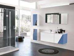 Mobile lavabo sospeso con specchioTEKNO 11 - BMT