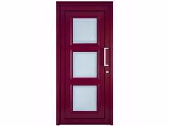 Porta d'ingresso in PVC per esterno su misura con pannelli in vetro TEKNO TE040 -