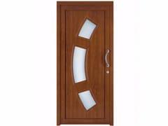 Porta d'ingresso in PVC per esterno su misura con pannelli in vetro TEKNO TE067 -