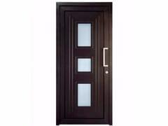 Porta d'ingresso in PVC per esterno su misura con pannelli in vetro TEKNO TE075 -