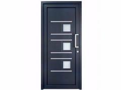 Porta d'ingresso in PVC per esterno su misura con pannelli in vetro TEKNO TE201 -