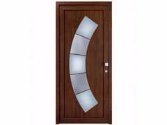 Porta d'ingresso in derivati del legno per esterno su misura con pannelli in vetro TEKNO TE248 -