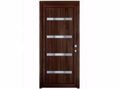 Porta d'ingresso in PVC per esterno su misura con pannelli in vetro TEKNO TE253 -