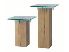 Tavolino alto quadrato in legno e vetroTÉNÉRÉ | Tavolino alto - ROCHE BOBOIS