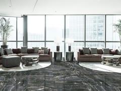 Pavimento/rivestimento in ceramica a pasta bianca TENERIFE BLACK -