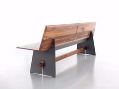 Panca in legno con schienaleTENSION | Panca con schienale - CONMOTO BY LIONS AT WORK
