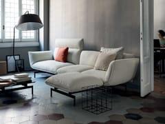 Divano componibile in tessuto a 3 posti con chaise longueTENSO | Divano con chaise longue - KRISTALIA