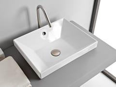 Lavabo da incasso soprapiano rettangolare in ceramicaTEOREMA 2.0 | Lavabo da incasso soprapiano - SCARABEO CERAMICHE